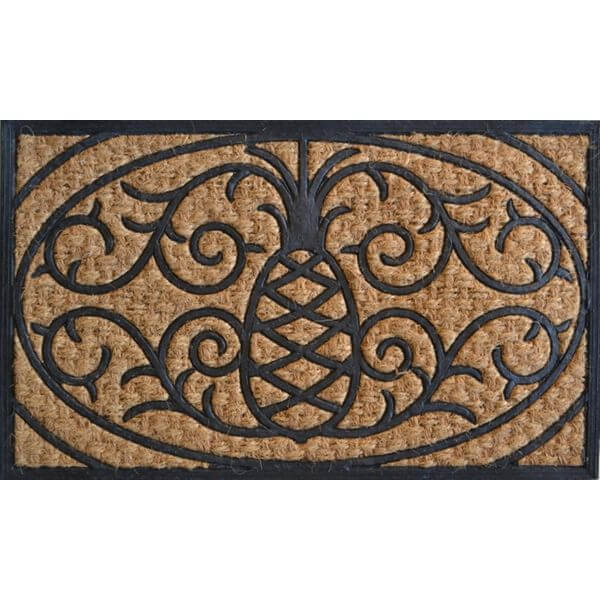 Imports Décor Rubber and Coir Molded Pineapple Doormat