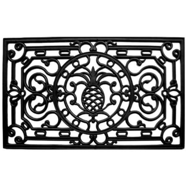 Home & More Pineapple Heritage Rubber Doormat