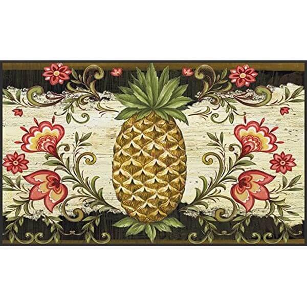 Toland Home Garden Pineapple and Scrolls Doormat