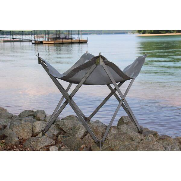 Tailgater 35-Inch Stainless Steel Folding Portable Fire Pit