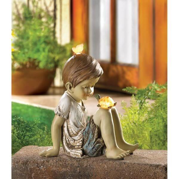 Making Friends Solar Garden Statue