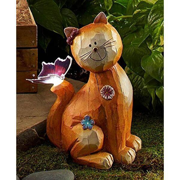 Fiber Optic Solar Garden Cat