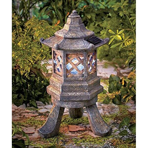 Solar Hexagon Pagoda Garden Light