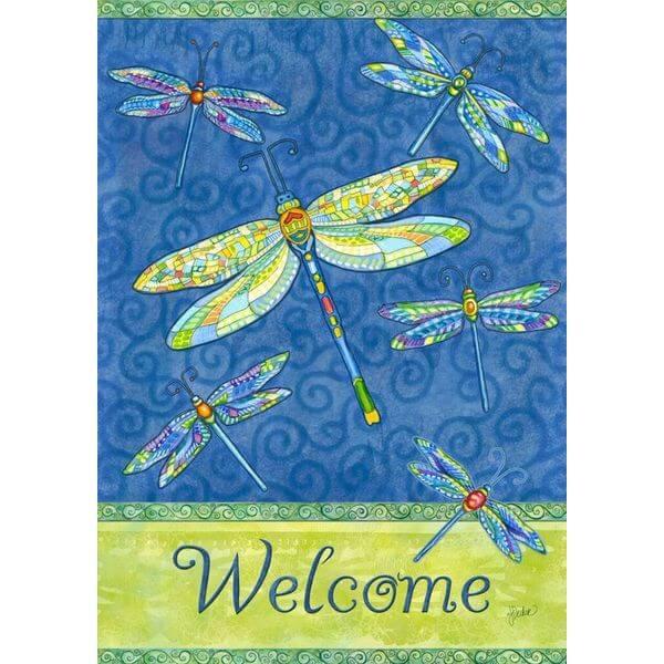 Dragonfly Flight Garden Flag