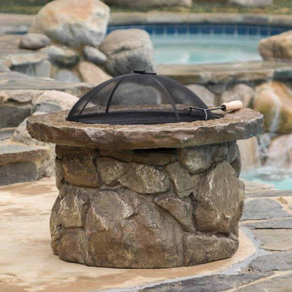 Taylor Outdoor Natural Stone Finish Fire Pit