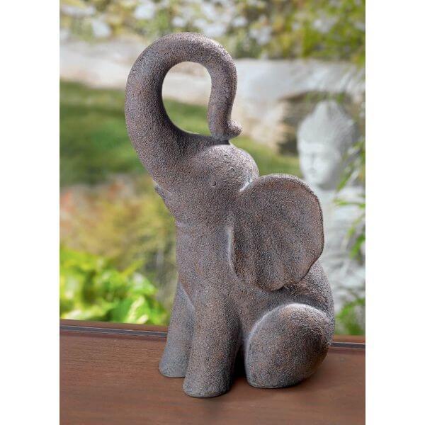 Grasslands Road Good Luck Elephant Stone Garden Statue