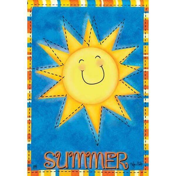 BreezeArt Summer Sun Garden Flag