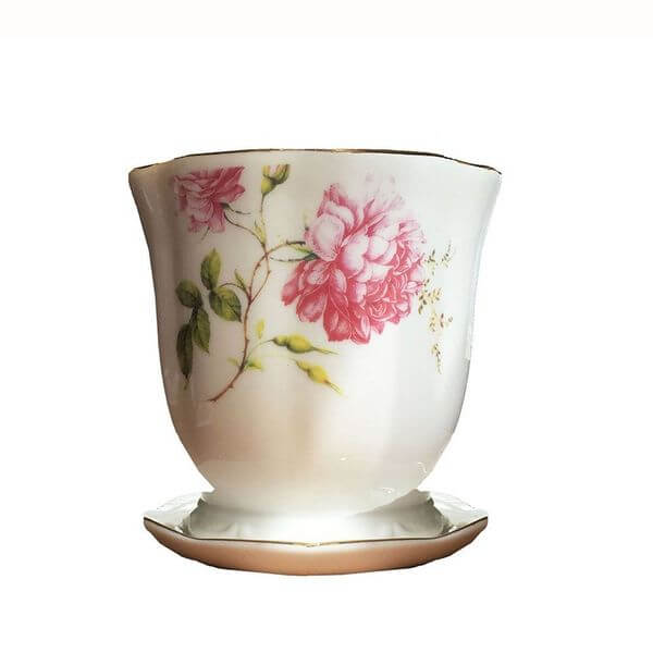 'Wildflower' Tea Cup Flower Pot