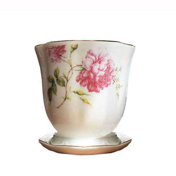 'Wildflower' Tea Cup Flower Pot