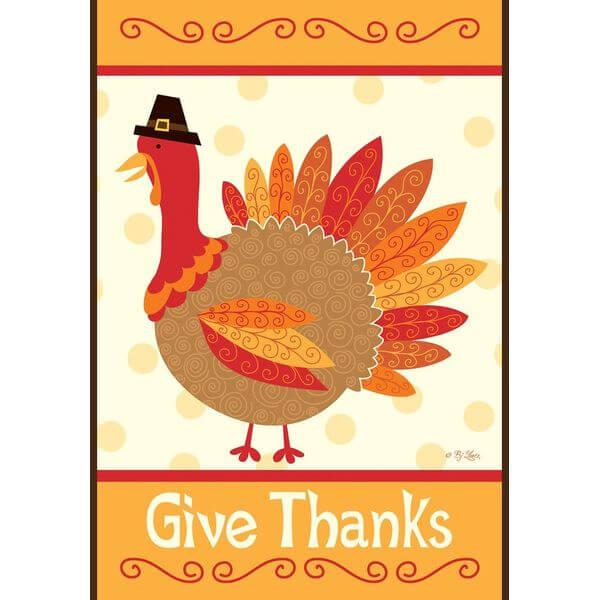 Toland 'Turkey Thanks' Thanksgiving Flag