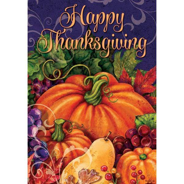 'Happy Thanksgiving' Double Sided Thanksgiving Garden Flag