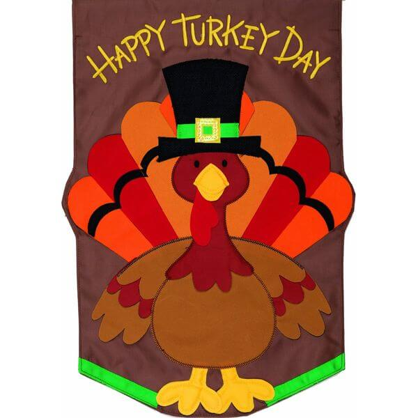 'Happy Turkey Day' Garden Flag
