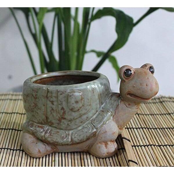 Cute Ceramic Turtle Flower Pot