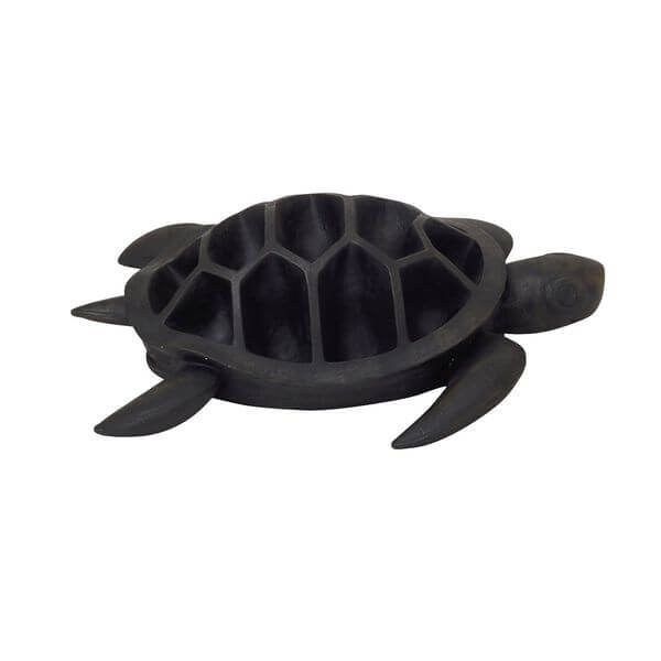 Benzara Striking Poly-Resin Turtle Flower Pot