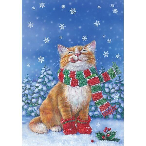 Toland 'Kitten Mittens' Winter Garden Flag