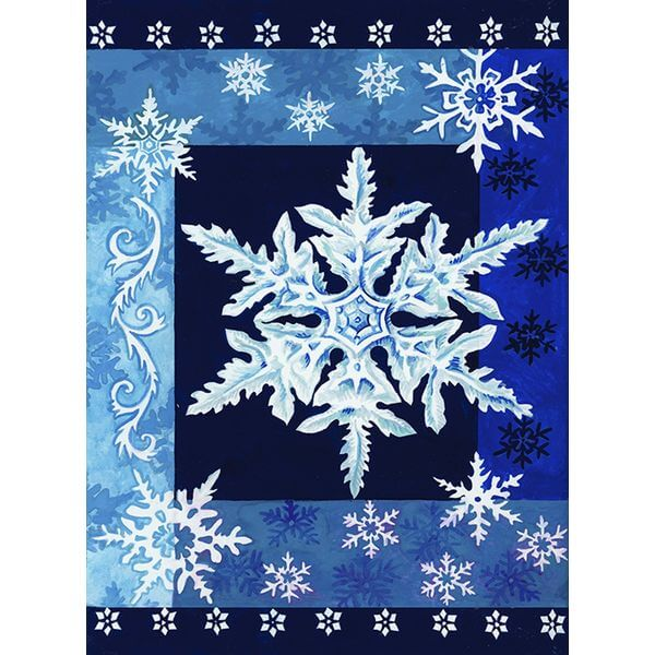 Toland 'Cool Snowflakes' Winter Garden Flag